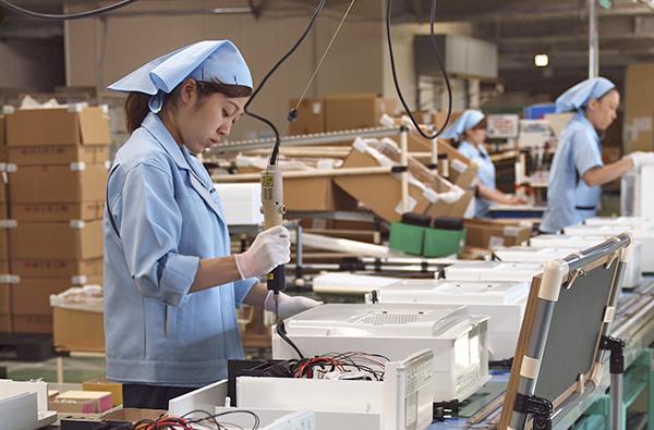 すべて新潟の工場で組み立てています